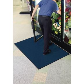 Carpet and hard floor protector matting -  Blue marl - Choice of two sizes