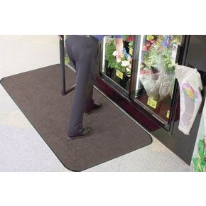 Carpet and hard floor protector matting - Charcoal - Choice of two sizes