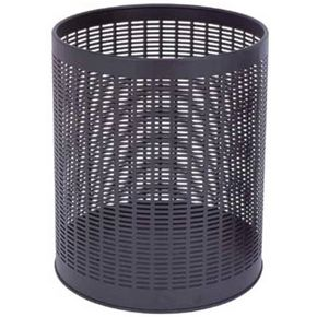 Economy black perforated waste bin