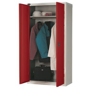 Slingsby WARDROBE CUPBOARD, SHELF & RAIL, RED