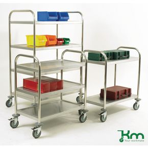 Konga economy stainless steel trolleys with 3 shelves 825 x 500mm