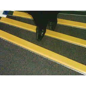 Aluminium nosings - H x W: 55 x 55mm - Slip resistant yellow