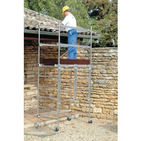 Folding aluminium work platform - Standard platform with additional kit to give platform height 1800mm