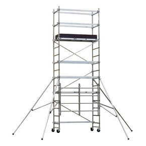 Folding aluminium work platform - Standard platform with additional kit, inc. toe boards to give platform height 3500mm