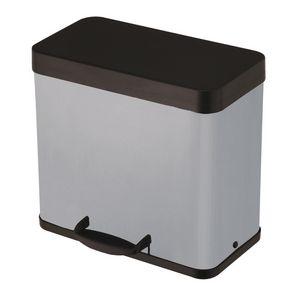 Pedal recycling bins trio
