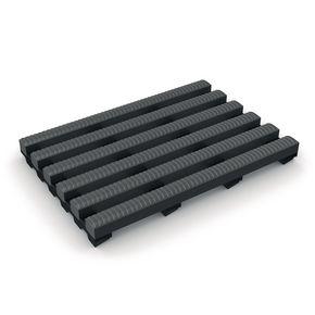 Heronrib® PVC leisure safety matting - Grey, 10m x 1m roll