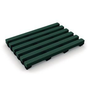 Heronrib® PVC leisure safety matting - Green, 10m x 1m roll