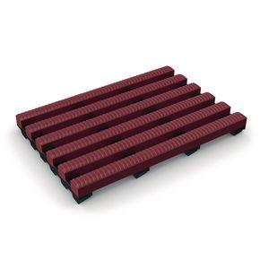 Heronrib® PVC leisure safety matting - Red, 10m x 1m roll