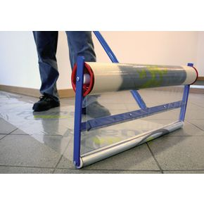 Decorating floor protection applicators