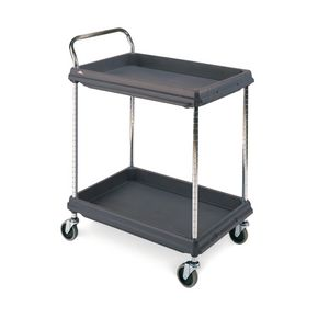 Deep ledge trolleys - standard -  2 tier - Black