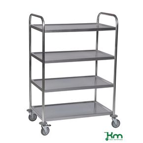 Konga economy stainless steel trolleys with 4 shelves 825 x 500mm
