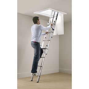 Aluminium 3 section loft ladder