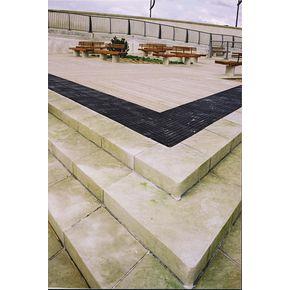 Tactile surface tiles - Corduroy