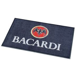 Heavy duty washable printed logo entrance mats