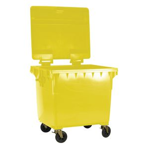 4 wheeled bin without lockable lid - 770L
