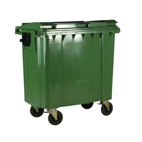 4 wheeled bin without lockable lid - 1100L