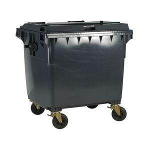 4 wheeled bin without lockable lid - 1100L