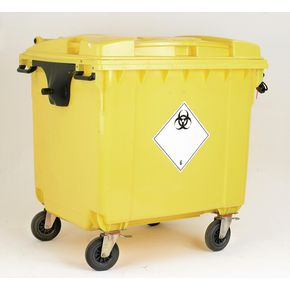 Lockable clinical waste wheelie bin
