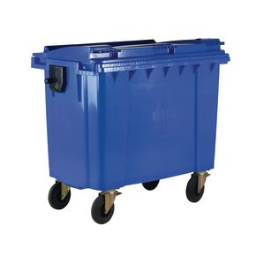 4 wheeled bin with lockable lid - 1100L