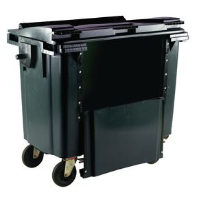 4 wheeled bins drop down front - 1100L