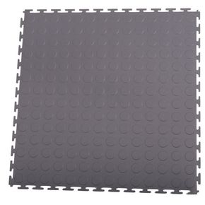 Hard 7mm  thick studded floor tiles for industrial use