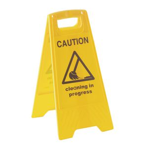 'A' Board sign - Caution cleaning in progress