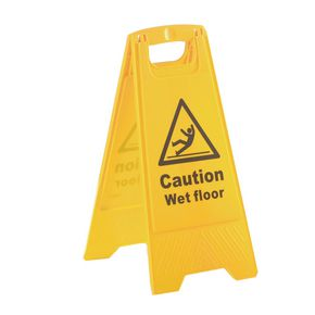 'A' Board sign - Caution wet floor
