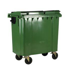 4 wheeled bin with lockable lid - 660L