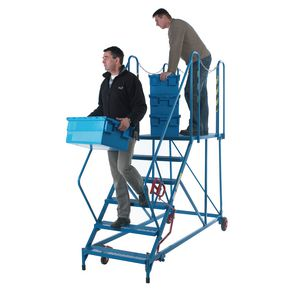 Shallow slope mobile work platforms - Painted - Choice of four heights