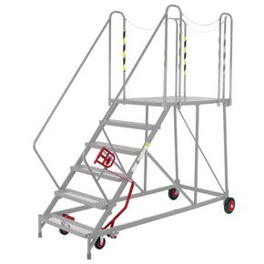 Shallow slope mobile work platforms - Galvanised - Choice of four heights