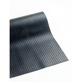 Broad ribbed rubber mat - 1m cut length, 3mm thick x 1200mm width