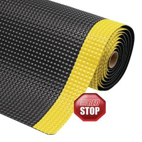 Heavy duty anti-fatigue industrial matting- Yellow edge - Choice of 2 mat sizes