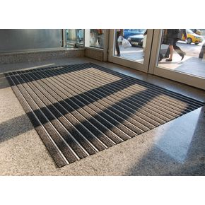 Aluminium ribbed matting