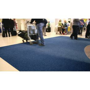 Ribbed contract entrance matting