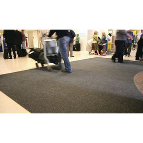 Ribbed contract matting - bevel edged