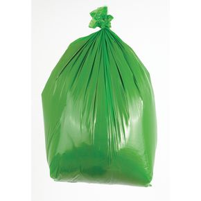 90L Coloured bin bags , green medium duty