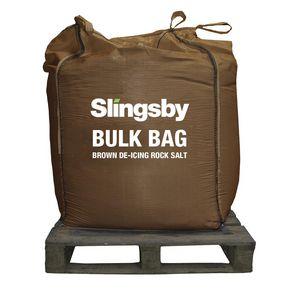Winter brown rock salt 1 tonne bag