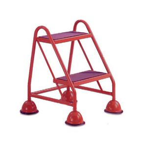 Economy cup steps - 2 tread without handrail 2 tread in red