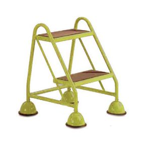 Economy cup steps - 2 tread without handrail 2 tread in yellow