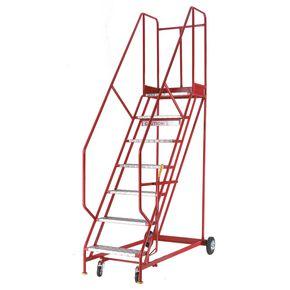 Heavy duty warehouse steps - Aluminium tread, 3 tread