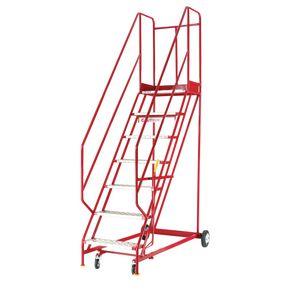 Heavy duty warehouse steps - Aluminium tread, 5 tread