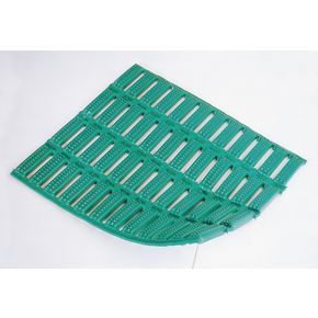 Floorline® Anti-microbial cushion tread PVC flooring Green - per linear m, 600mm width