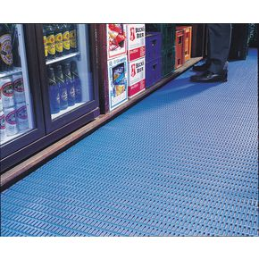 Floorline® Cushion tread PVC flooring Blue - per linear m, 910mm width