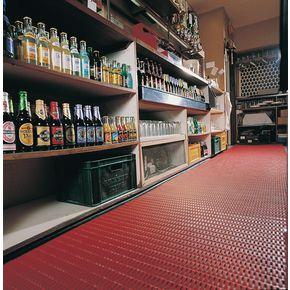 Floorline® Cushion tread PVC flooring Red - per linear m, 910mm width
