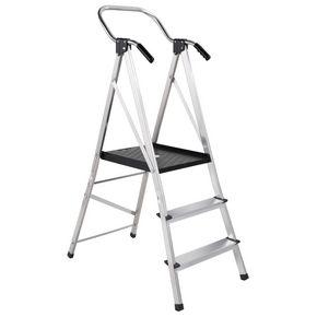 Folding platform step stool with extra large platform