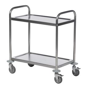 Konga economy stainless steel trolleys with 2 shelves 825 x 500mm