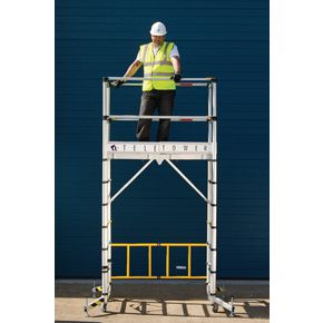 Telescopic aluminium work tower - Aluminium version