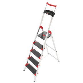 Heavy duty, deep tread aluminium steps with extending handrail