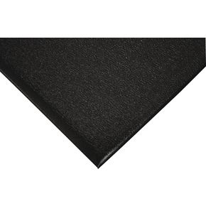 Industrial anti-fatigue foam matting - black, 18.29m roll