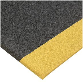 Economical anti-fatigue industrial matting - Yellow edge, in 600mm and 910mm widths